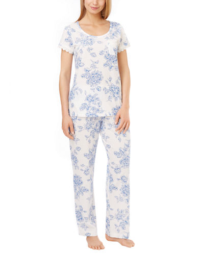 Carole Hochman Floral Print Pajama Set for Women
