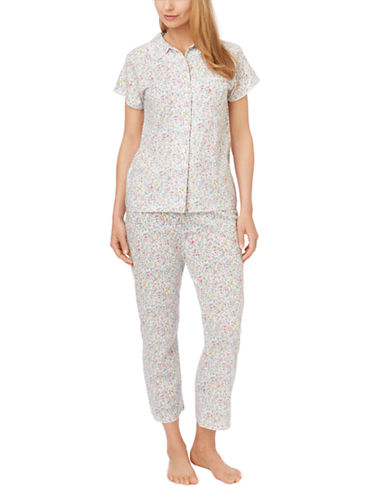 Carole Hochman Floral Top and Capris Pajama Set for Women