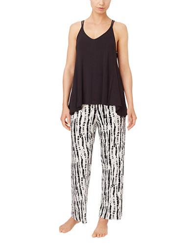 OSCAR DE LA RENTASleeveless Top and Print Knit Bottoms Pajama Set