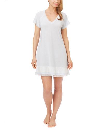 OSCAR DE LA RENTALace Trim Short Nightgown