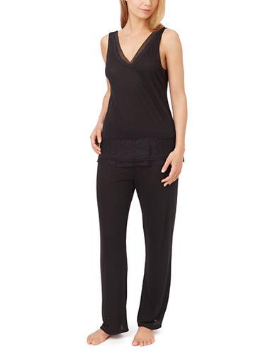 OSCAR DE LA RENTASleeveless Top and Pants Pajama Set