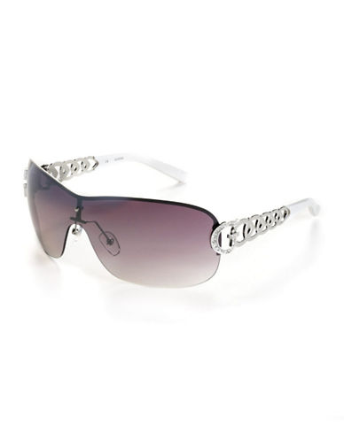 GUESS Embellished Shield Sunglasses