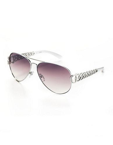 GUESSEmbellished Aviator Sunglasses