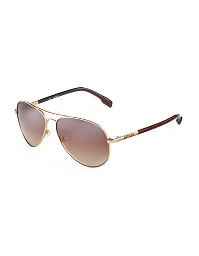 GUESS Metal Aviator Sunglasses