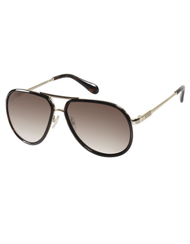 GUESS Rounded Aviator Sunglasses