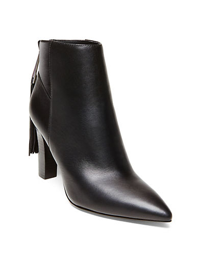 Buy Rakie Leather Tassel-Trim Ankle Boots by B Brian Atwood online