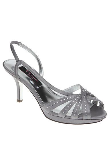 Nina Claudie High-Heel Satin Sandals