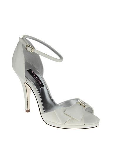 NINAEarleen Luster Satin Peep-Toe Sandals