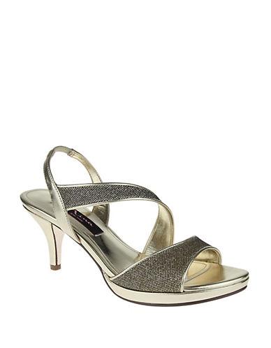 NINANewark Metallic Woven Open-Toe Sandals