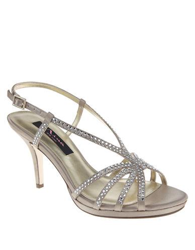NINABobbie Rhinestone Sandal Heels