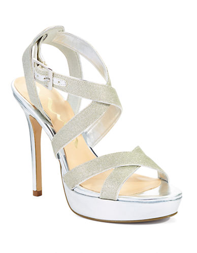 NINAJosette Glitter Strapped Heels