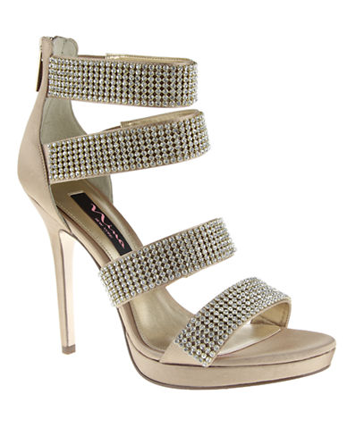 NINA Bridget Crystallized Satin Pumps