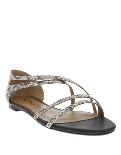 NINASonnet Snakeskin Leather Sandals