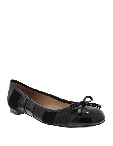 NINA Maricela Leather Striped Ballet Flats