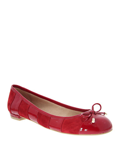 NINAMaricela Suede and Leather Striped Ballet Flats