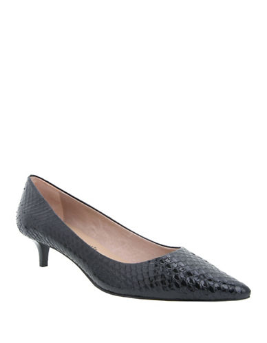 Buy Jaunt Snake-Embossed Leather Point-Toe Pumps by Nina online