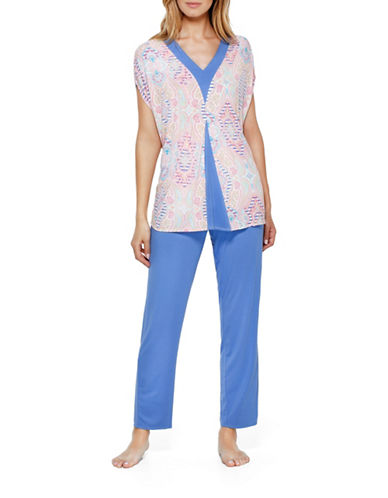 Plus Chic in Chelsea Caftan Pajama Set plus size,  plus size fashion plus size appare