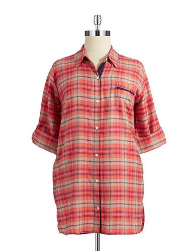DKNYPlaid Sleepshirt