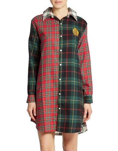 LAUREN RALPH LAURENMixed Plaid Sleep Shirt