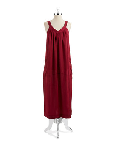 DONNA KARAN Pocketed Night Gown