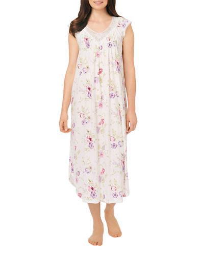 CAROLE HOCHMANFloral Pattern Long Nightgown