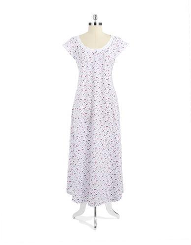 Carole Hochman Cap Sleeved Floral Nightgown