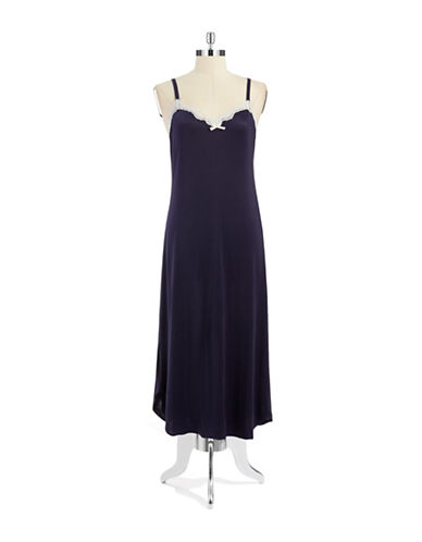 OSCAR DE LA RENTALace-Trimmed Long Nightgown