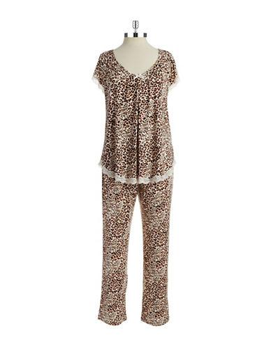 OSCAR DE LA RENTAAnimal-Print Pajama Set