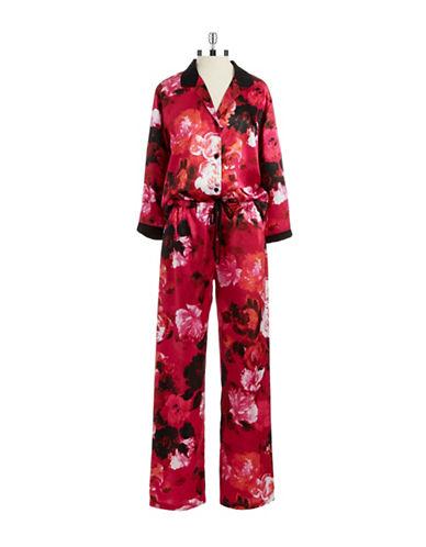 OSCAR DE LA RENTATwo Piece Floral Pajama Set