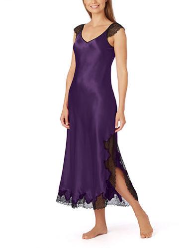OSCAR DE LA RENTALong Charmeuse Nightgown