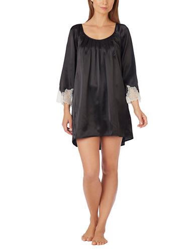 OSCAR DE LA RENTAShort Charmeuse Nightgown