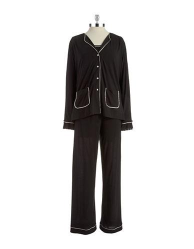 OSCAR DE LA RENTAThree Piece Pajama Set