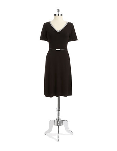 Jones New York Plus Plus V-Neck Sweater Dress