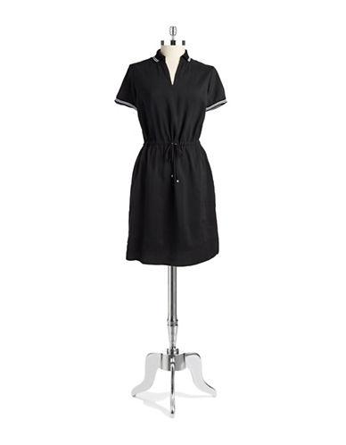 Shop Jones New York Signature online and buy Jones New York Signature Petite Drawstring Shift Dress dress online