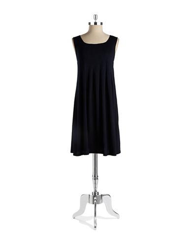 Shop Jones New York Signature online and buy Jones New York Signature Petite Pleated Shift Dress dress online