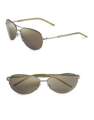 marc jacobs male 189348 matte 59mm aviator sunglasses