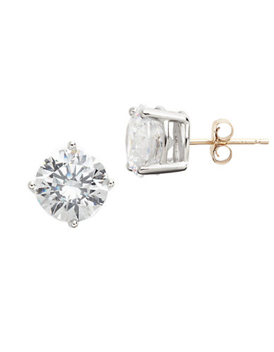 LORD & TAYLORPlatinum Plated Sterling Silver And Cubic Zirconia Stud Earrings