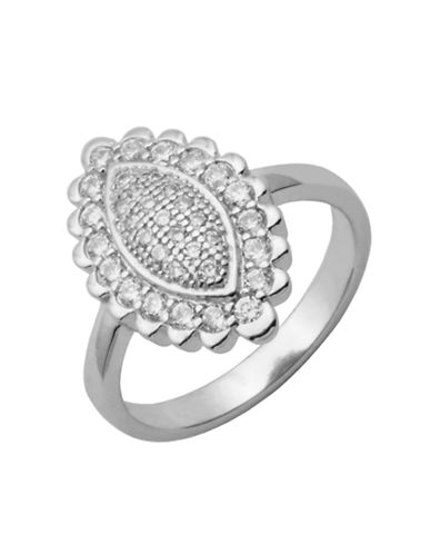 LORD & TAYLOR Cubic Zirconia Ring with Sterling Silver Frame