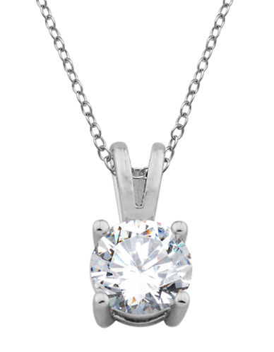 LORD & TAYLORSterling Silver and Cubic Zirconia Drop Pendant Necklace