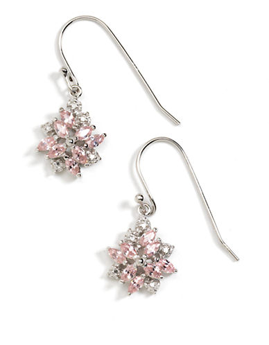 LORD & TAYLORSterling Silver Cubic Zirconia Flower Earrings