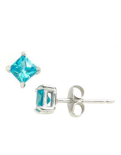 LORD & TAYLOR Square Cubic Zirconia Solitaire Earrings