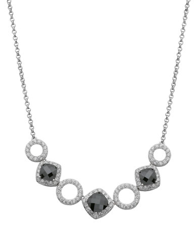 LORD & TAYLORSterling Silver and Cutout Pendant Collar Necklace