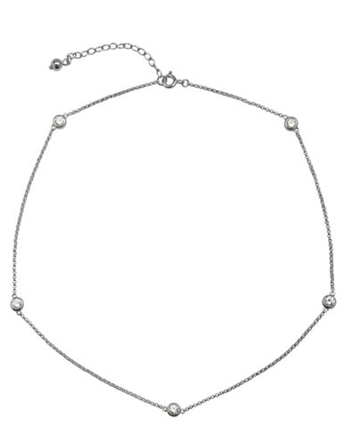 LORD & TAYLORSterling Silver Chain Necklace with Cubic Zirconia Embellishments
