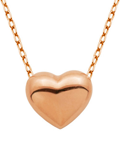 lord taylor female puffed heart pendant necklace