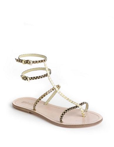 SEBASTIANStrappy Snakeskin Leather Sandals