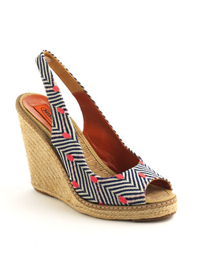 MISSONI Slingback Platform Wedge Sandals