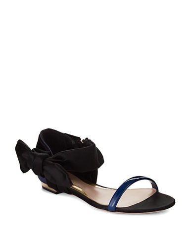 SEBASTIAN Bow Accented Sandals