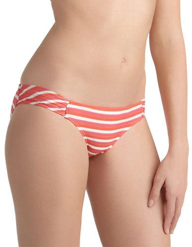 ELLA MOSSCoral Portofino Striped Hipster Swim Bottoms