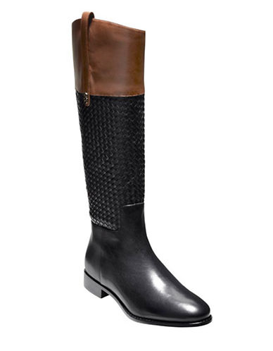 COLE HAAN Brennan Leather Riding Boots