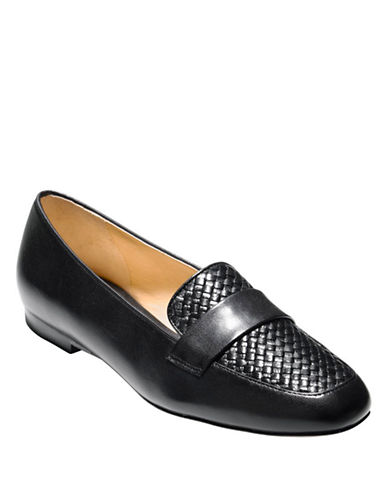 COLE HAAN Dakota Woven Leather Loafers